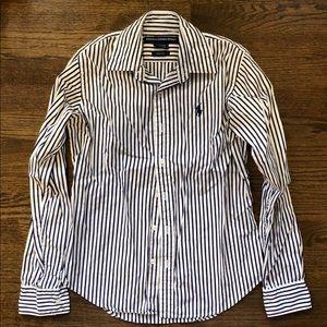 Ralph Lauren Sport White&Navy Striped Button Down